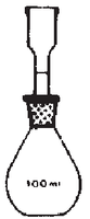 Dibujo esquemático del picnómetro de Renault para sólidos