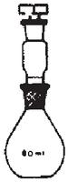Dibujo esquemático del picnómetro para sólidos y líquidos con tapón de Politeno