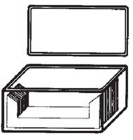 Dibujo esquemático de la cubeta para tinciones Schiefferdecker. SIMAX