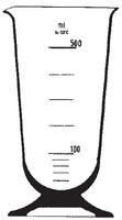 Dibujo esquemático de la copa cónica, graduada. SIMAX