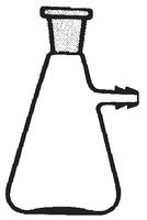 Dibujo esquemático del matraz Kitasatos para vacío, boca esmerilada. SIMAX