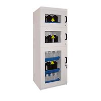 Cabina puerta larga de PVC para ácidos y bases