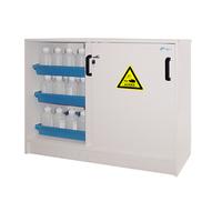 Cabina sobremesa de PVC para ácidos y bases. 2 puertas