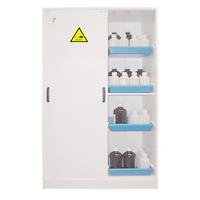 Cabina de seguridad larga de PVC especial para almacenamiento de ácidos y bases.