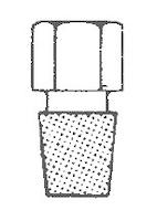 Tapón cerrado hexagonal