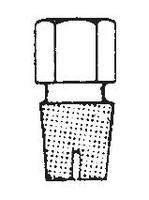 Tapón cerrado hexagonal con regata para embudos de decantación
